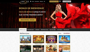 Interface Unique Casino