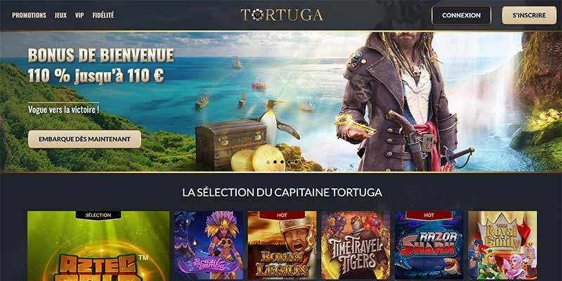Casino Tortuga Interface